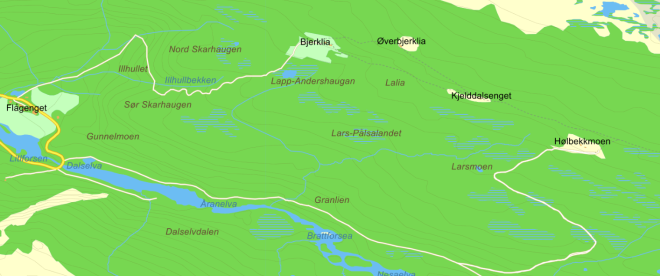 kart-hulbekkmoen-bjerklia